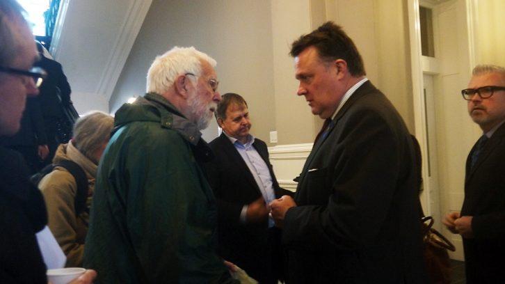 Ruffman is talking to the mayor