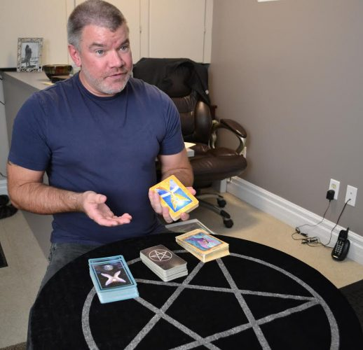 Brad Surette explains the use of Angel and Tarot Cards in his studio