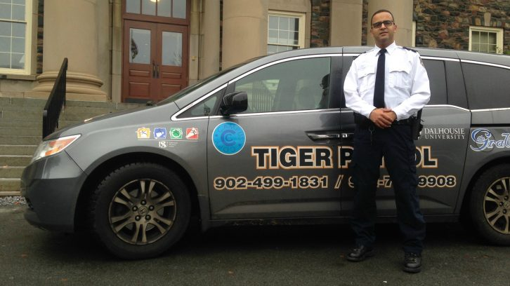 Tiger Patrol is made up of only two vans. Jake MacIsaac of Security Services hopes a few more vehicles will be added to the fleet in coming years