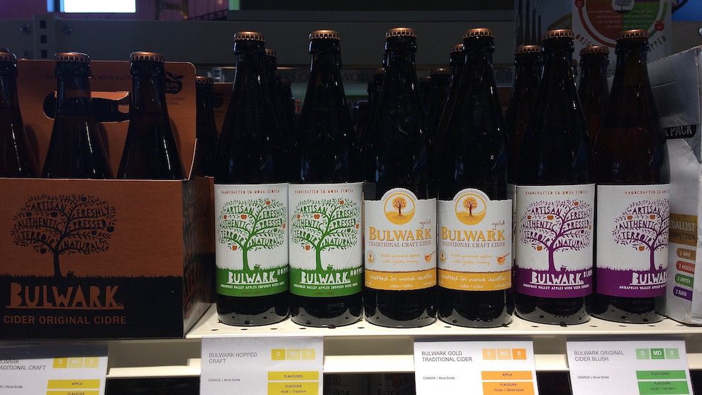 Bulwark Cider is the number one selling cider brand in all of Nova Scotia.