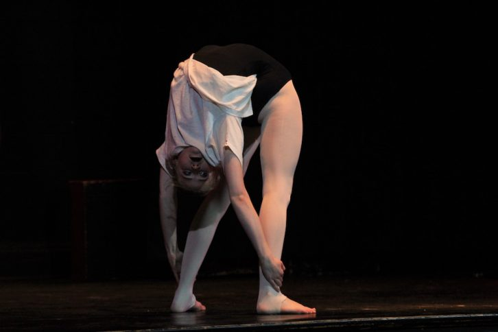 Simone, 16, shows off her contortion act.