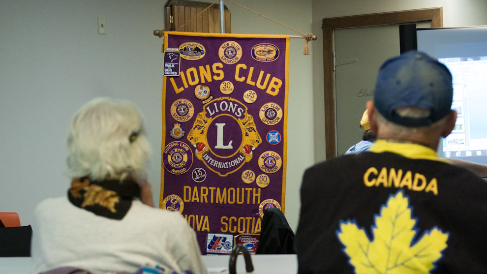 Lions Club members at weekly meeting