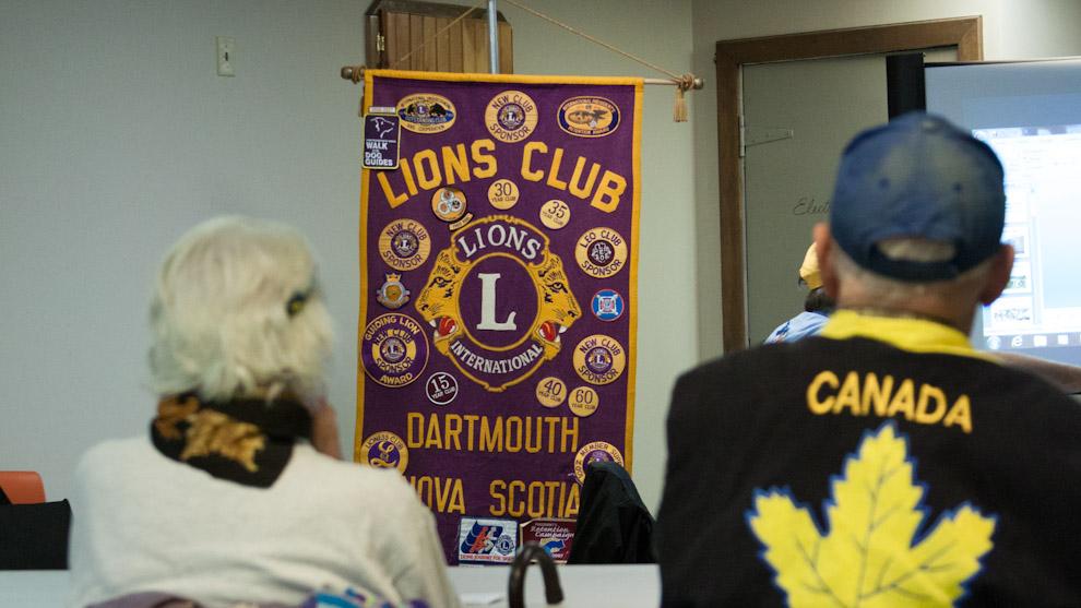 Lions Club members at weekly meeting