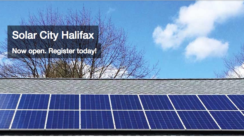 A screen capture featuring rooftop solar panels from Solar City's website.