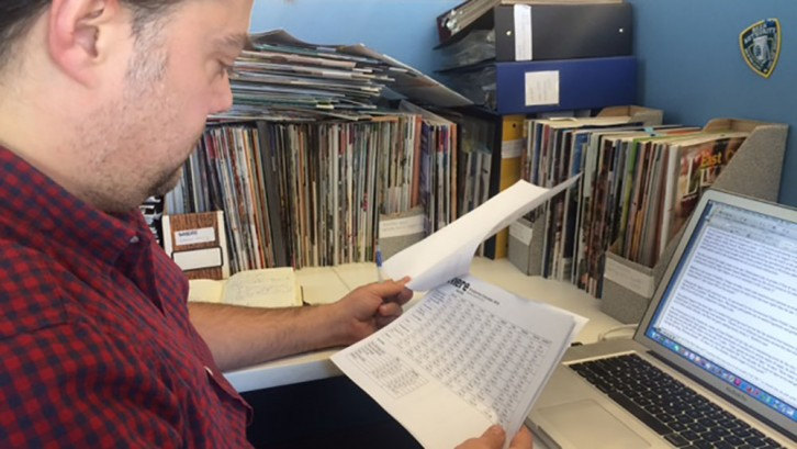 Senior editor Trevor Adams reviews the production schedule for upcoming issues of Halifax Magazine.