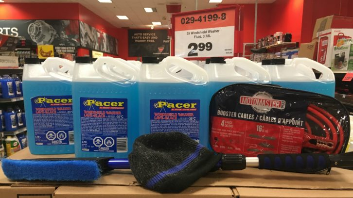 Proper windshield washer fluid, an ice scraper, and booster cables should be in every driver's trunk come winter.