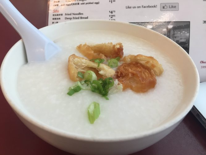 The shrimp porridge is one of the most popular porridge in south eastern China.