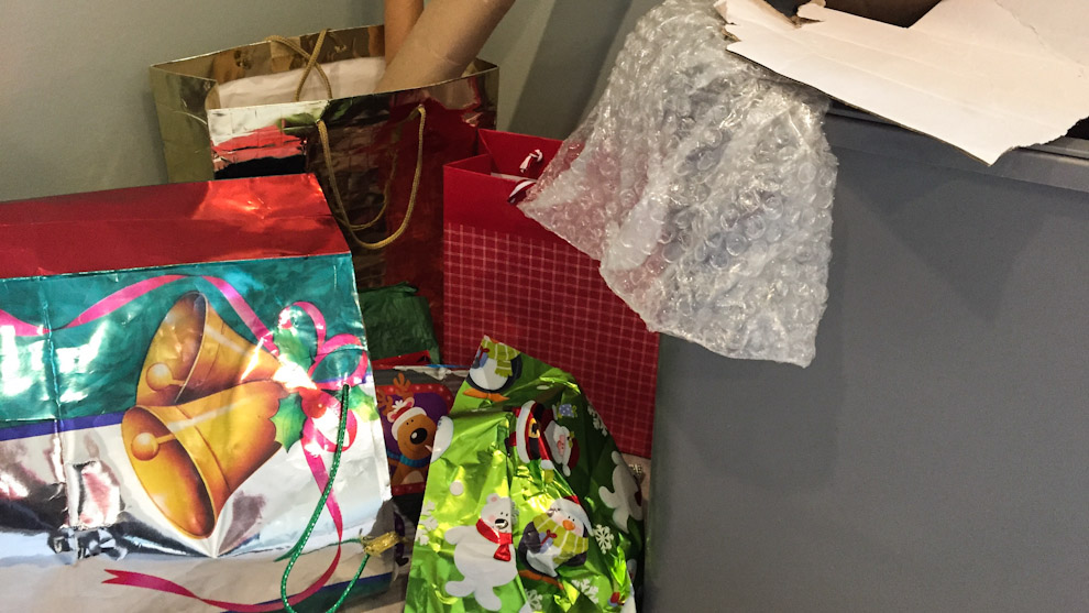 Christmas garbage
