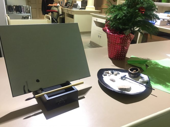 King's library provides kits for students to play with.