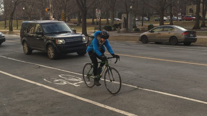 Cyclists travelling on South Park St. may soon be in for a safer ride