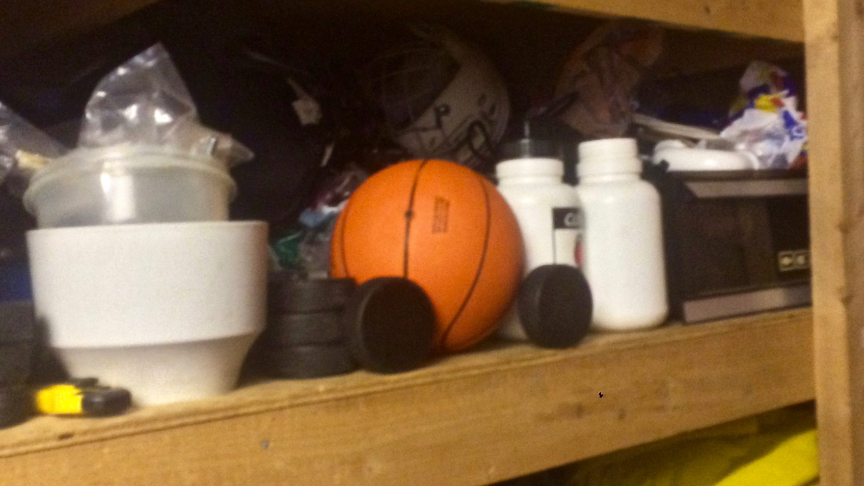 For some students, sports equipment like this will be languishing in basements until work-to-rule is over (Photo is of the author's sporting equipment).