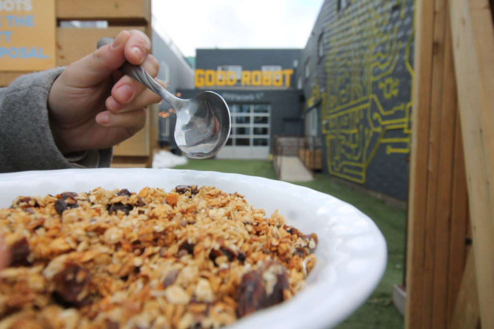 Granola made from spent grains at Good Robot Brewing Company.