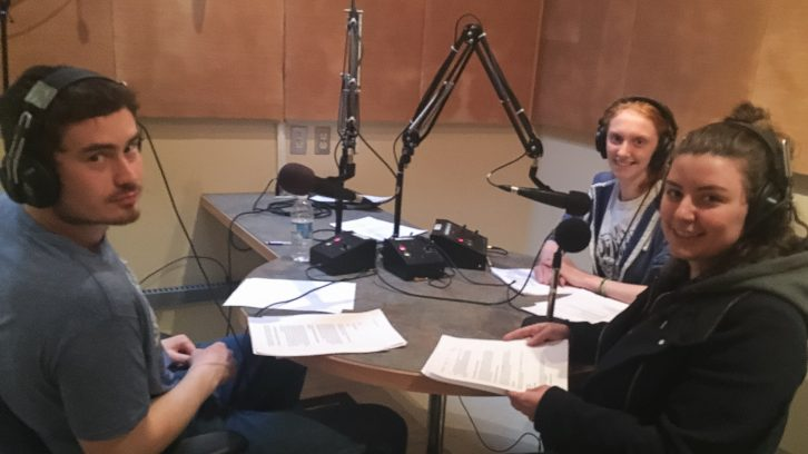 Hosts Zack Smart and Teri Boates in the studio with Reporter Anna Cormier.