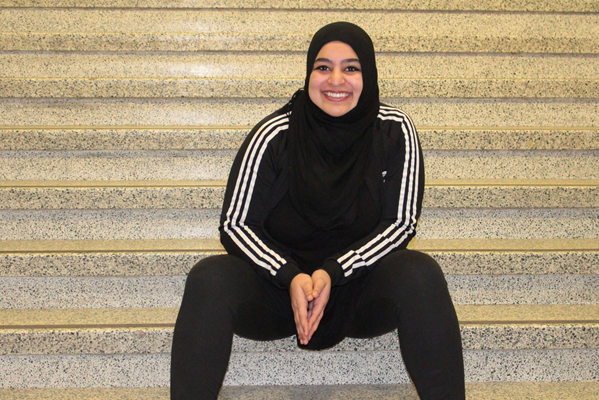 Masuma Asad Khan, president of the Dalhousie Muslim Student Association.