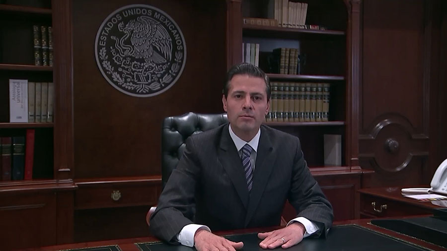 Mexican President Enrique Peña Nieto responds to the order in a video released by the Mexican government.
