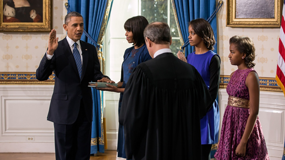 Obama at his second inauguration as President in 2012. (courtesy whitehouse.gov)