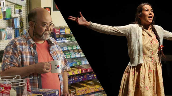(Right) Paul Sun-Hyung Lee plays Appa in the Soulpepper play and CBC show Kim's Convenience. (Left) Lisa Corey is a fourth-year Dalhousie acting student at the Fountain School of Performing Arts.