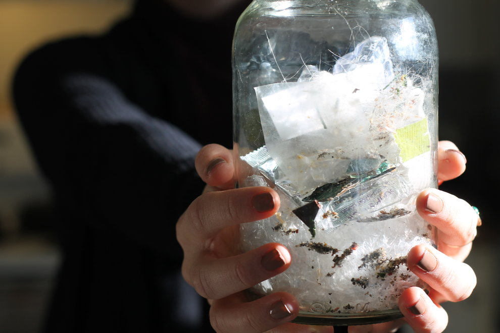 Could you fit a year's worth of waste into this jar?