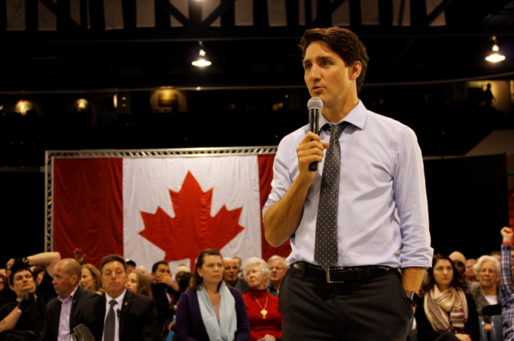 Trudeau stated that he did take notice of the teachers protest, while talking about his own history as a teacher.