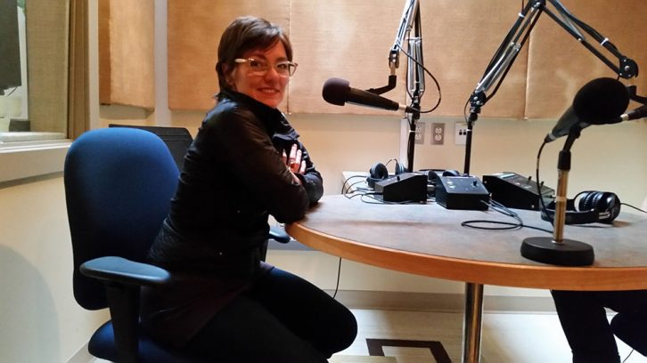 Director Ann-Marie Kerr stopped by the King's radio lab for an interview.
