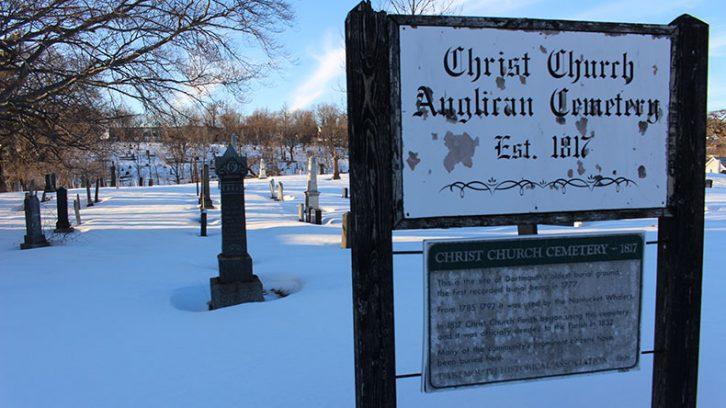 Entrance into Christ Church Cemetery