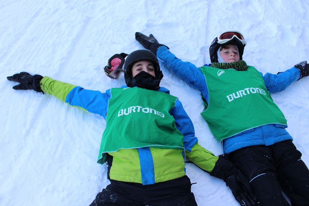 438 snow angels were made at Ski Martock on Saturday. Photo by Jill Ellsworth.
