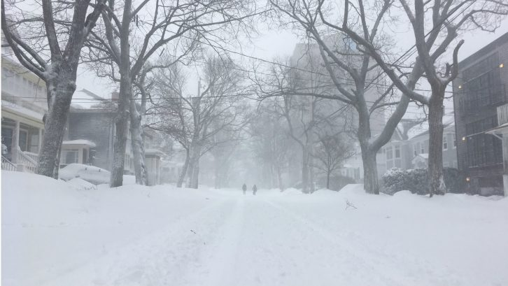 Halifax had 70cm of snow and 100km/h winds, making roads difficult to navigate.
