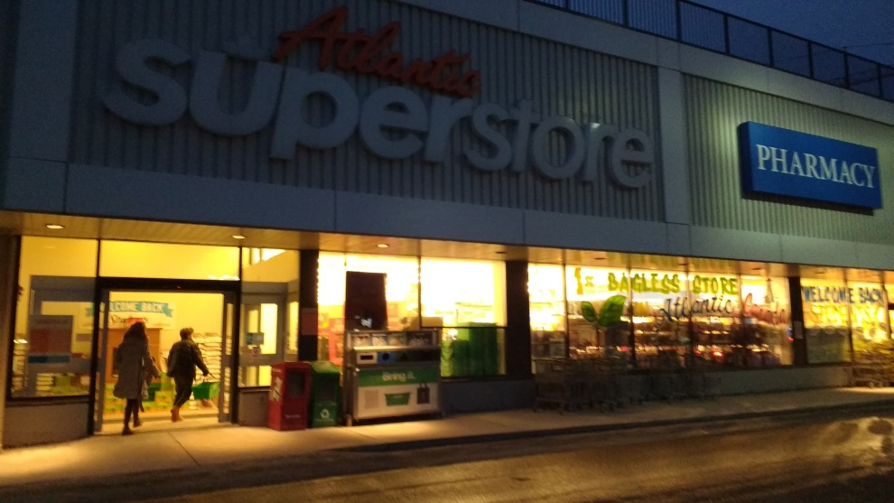 The view outside the Atlantic Superstore on Quinpool.