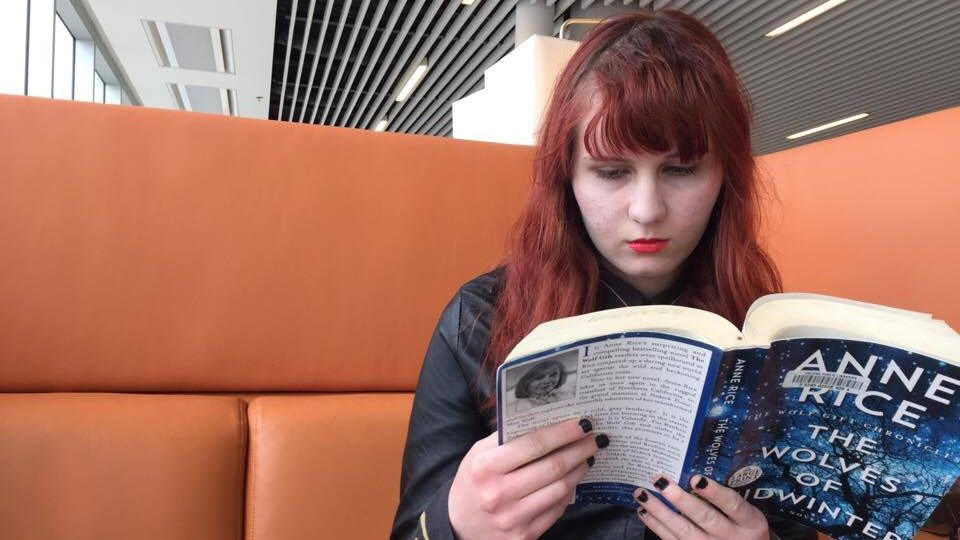 McNutt reading in the Halifax Central Library