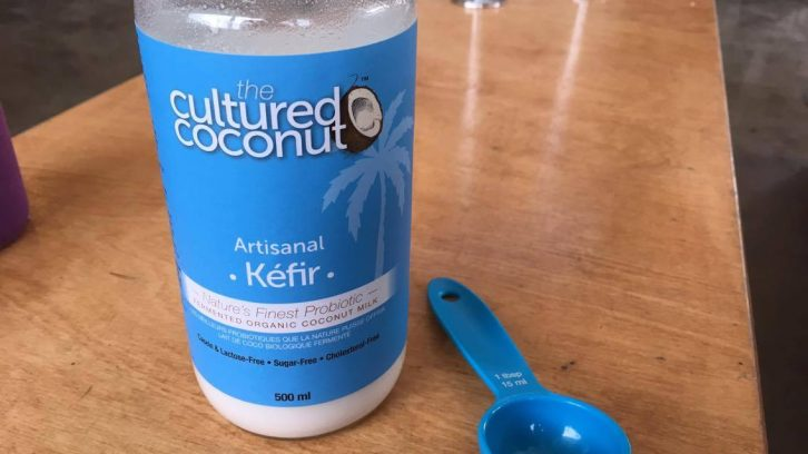 Two tablespoons of The Cultured Coconut can provide up to 300 billion probiotic bacteria and up to 50 active strains.