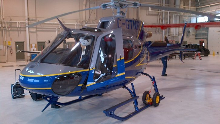 One of DNR's new H125 helicopters.