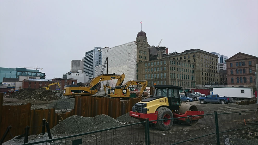 The Queen's Marque construction site on the Halifax waterfront.