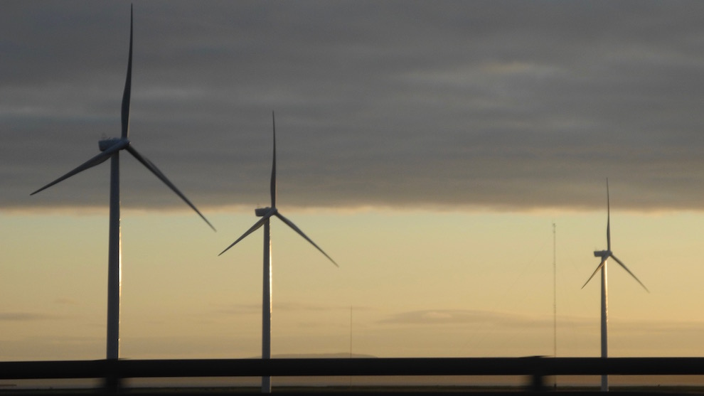 In Nova Scotia, over 25 per cent of electricity comes from renewables sources, like these windmills in Amherst.