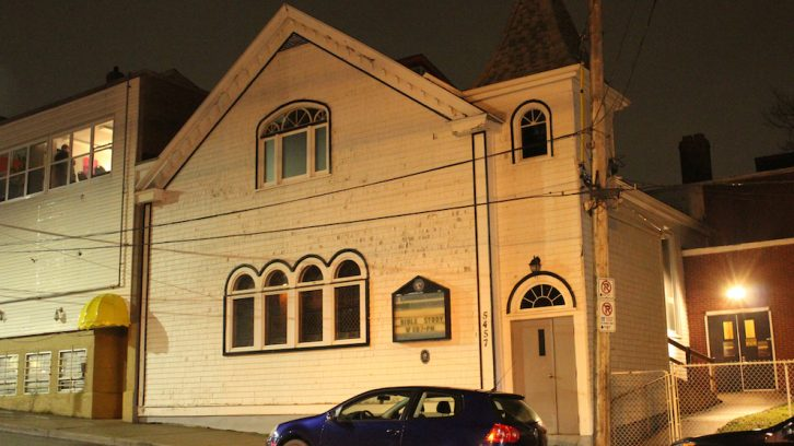 No recording of any kind was permitted inside Cornwallis Street Baptist Church Monday evening.