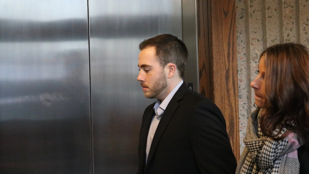 Christopher Garnier enters courtroom at the Nova Scotia Supreme Court in Halifax.