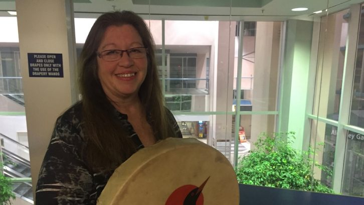 Mi'kmaq filmmaker Catherine Martin told Turtle Grove's history at the Alderney Gate Public Library on Thursday.