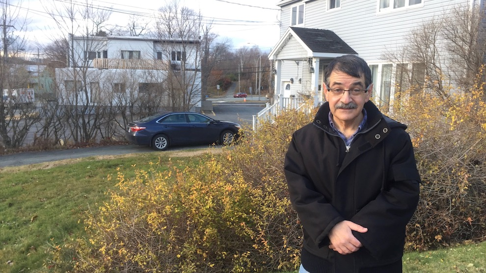 Paul Mombourquette's property faces the proposed building site.