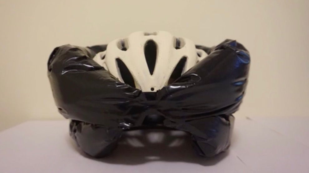 Helmet WorX is a bicycle helmet with a safe twist -- an airbag.