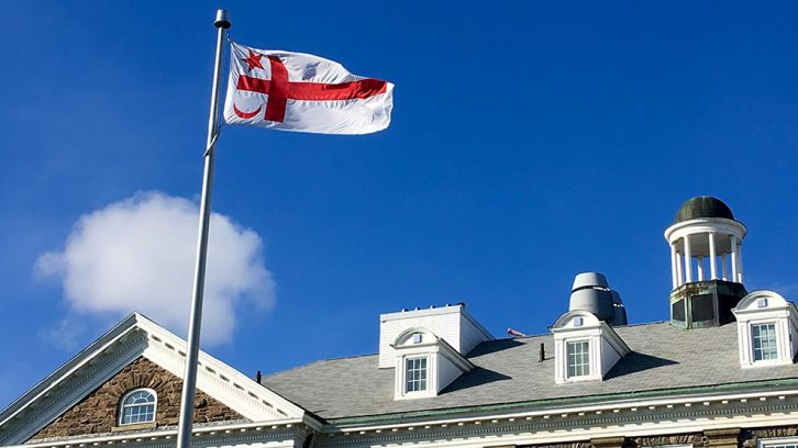 Dalhousie has permanently installed the Mi'kmaq flag on all campuses.