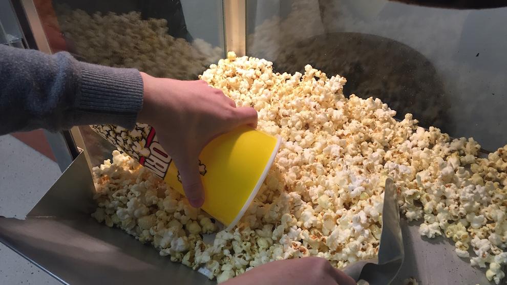 A number of volunteers help run each screening.
