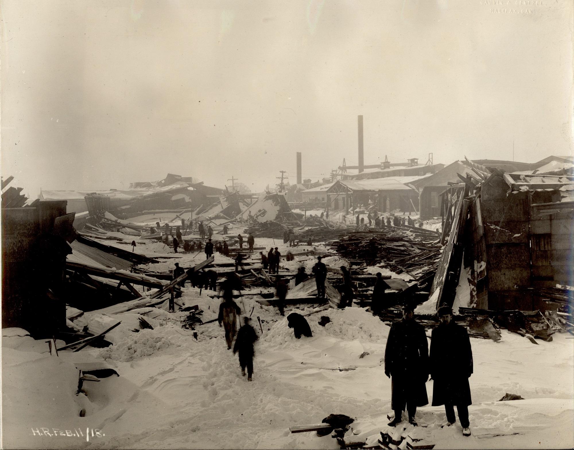 Halifax, N.S.: Ruins of car erecting shed.