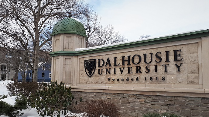 The Dalhousie University sign on University Avenue