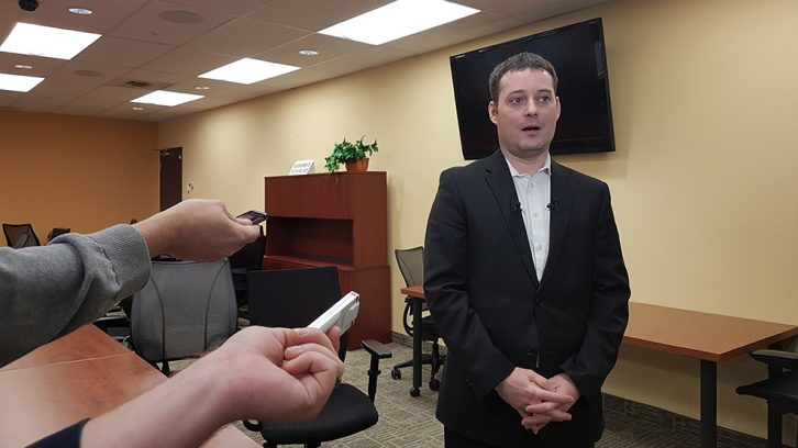 Minister Delorey speaks to journalists at the Department of Health and Wellness on Tuesday, Jan. 30.