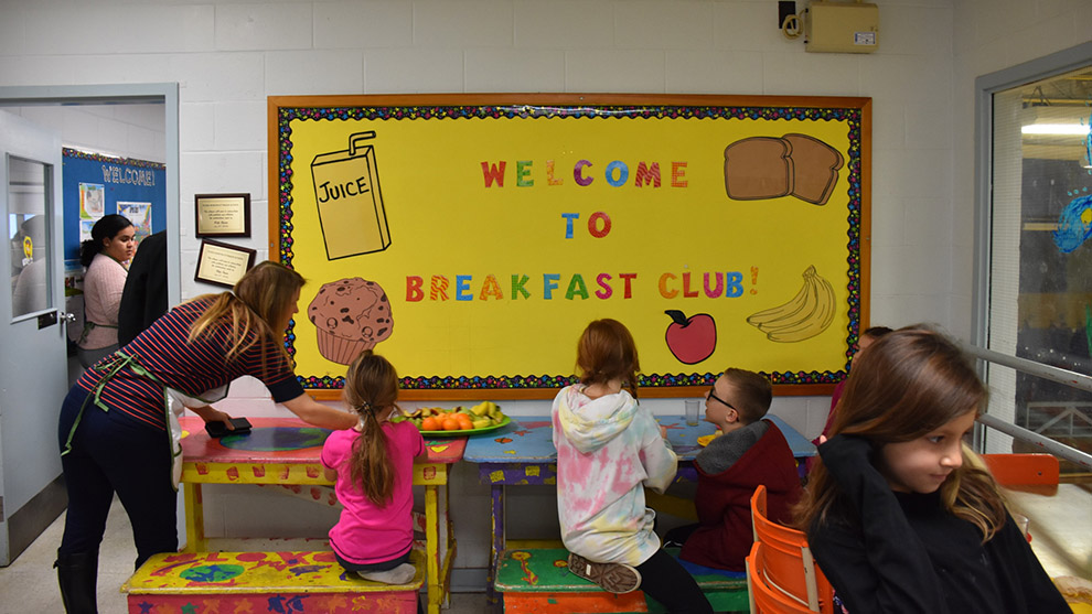 Burton Ettinger Elementary School in Halifax offers its students a breakfast club.