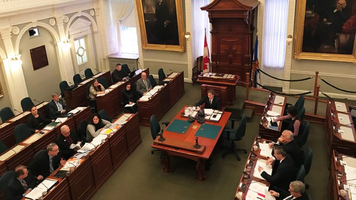 The committee discussed about removing tolls at the Cobequid Pass on Wednesday.