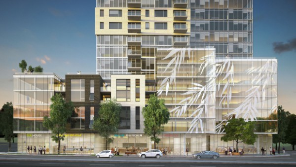 Photo:WM Fares Group street level rendering of the proposed Willow Tree development presented by APL.