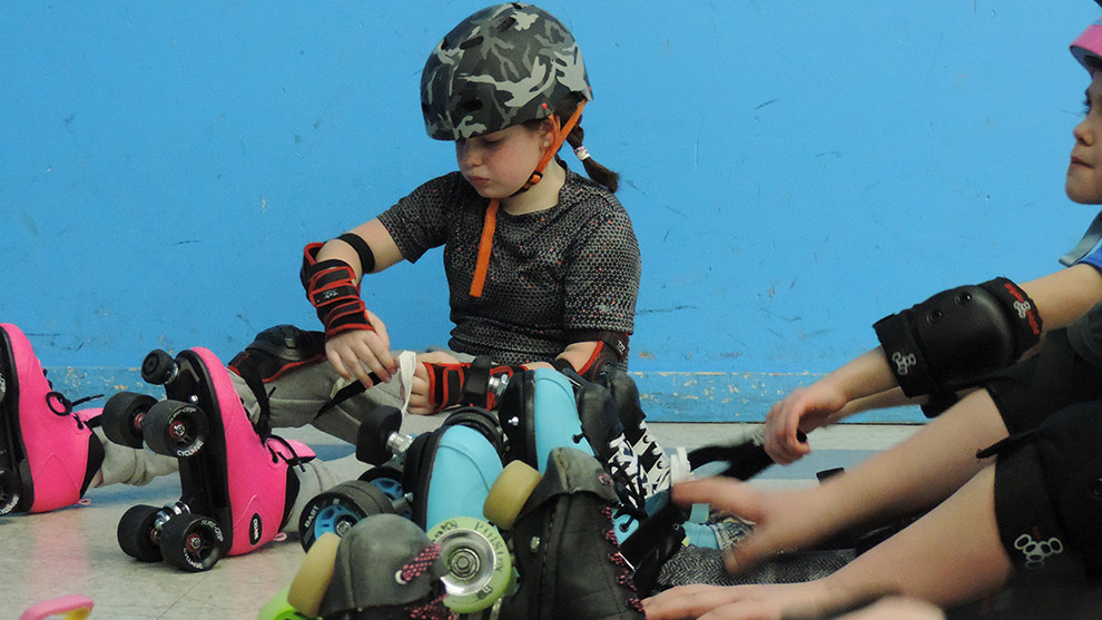 "Katie Amber says the people who have joined so far are ""kids' of parents who play roller derby, kids from other sports, or kids that have never played a sport."""