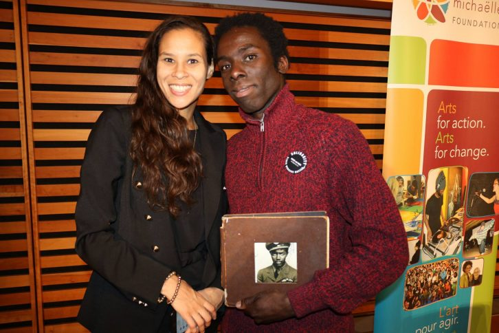 Community activists El Jones and Desmond Cole connected at the National Black Canadians Summit December 2017.
