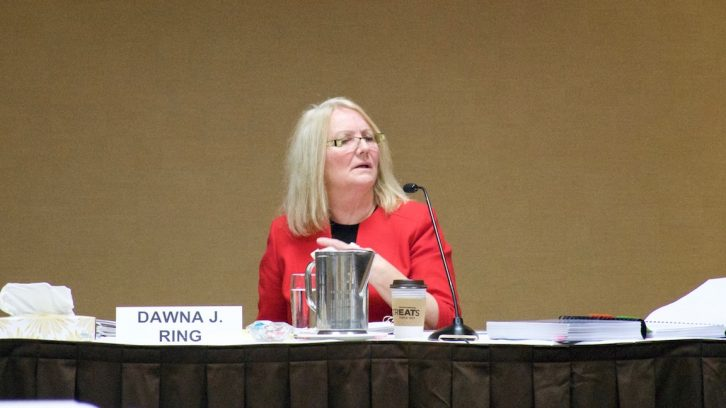 Dawna Ring presided over the review board hearing on Tuesday.