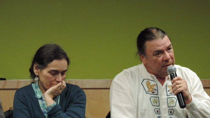 Danny Paul (right) says he is frustrated by the lack of community consultation from government and chiefs.